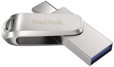 USB pulk SanDisk Ultra Dual Drive Luxe, hõbe, 1 TB