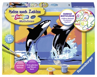 Ravensburger Painting By Numbers Playful Orcas 280131