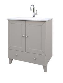 Pastatoma vonios spintelė su praustuvu Raguvos baldai Siesta 171134156, dramblio kaulo