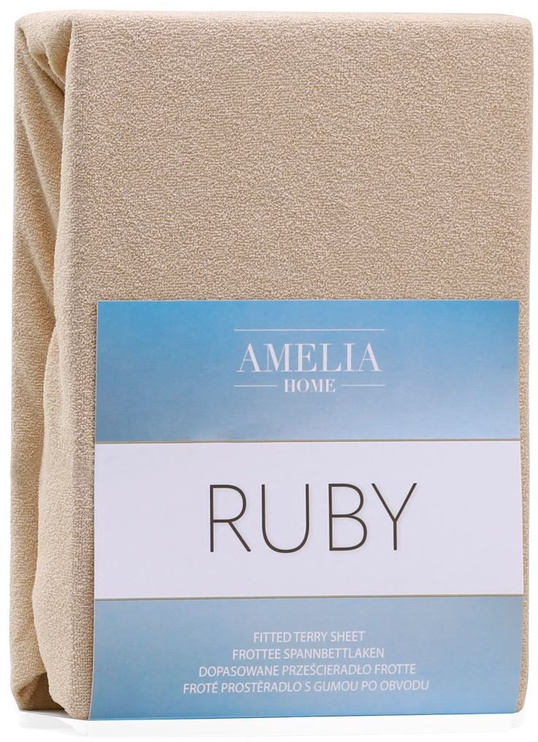 AmeliaHome Ruby Frote Bedsheet 180-200x200 Dark Beige 09