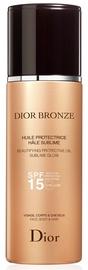 Eļļa saules aizsardzībai Christian Dior Beautifying Protective Oil Sublime Glow SPF15, 125 ml