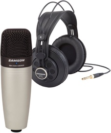Samson C01/SR850 Microphone / Headphones Bundle