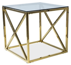 Signal Meble Elise B Table 55x55cm Gold