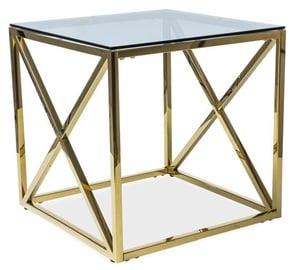 Kafijas galdiņš Signal Meble Modern Elise B Gold, 550x550x550 mm