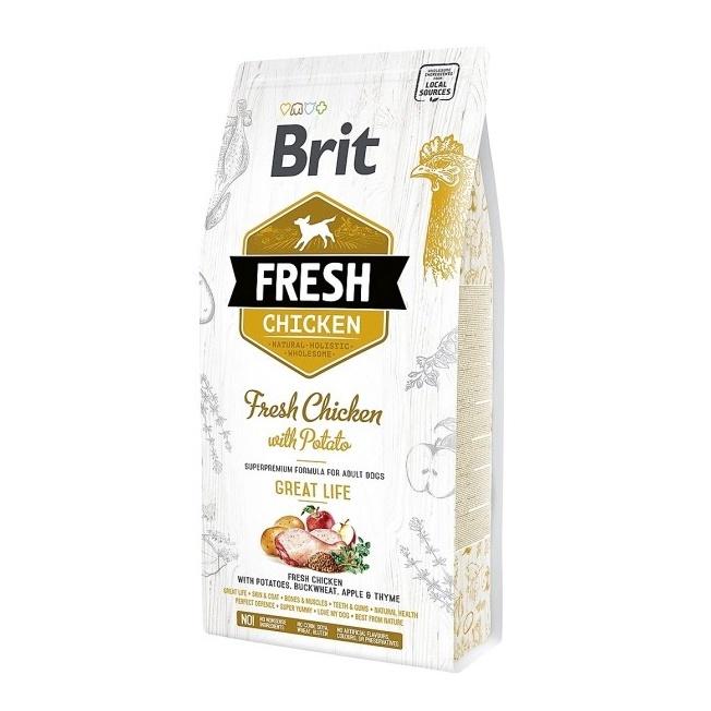 Sausas ėdalas šunims Brit Chicken Potato Adult, 2.5 kg