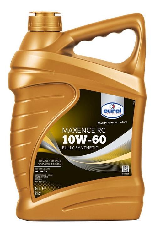 Машинное масло Eurol Maxence RC 10W - 60, синтетический, для легкового автомобиля, 5 л