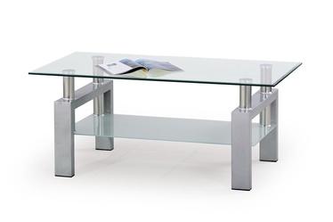 Kavos staliukas Diana sidabro spalvos, 110 x 60 x 45 cm