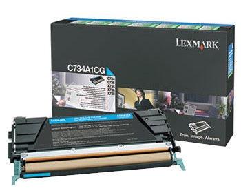 Lazerinio spausdintuvo kasetė Lexmark X748H1CG Toner Cartridge Cyan