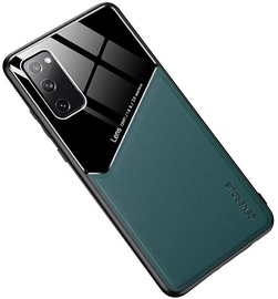 Чехол Mocco Lens Leather Back Case Samsung Galaxy A02s, черный/зеленый