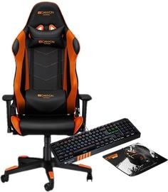 Canyon Deimos CND-SGCH4 Black/Orange + Canyon Gaming Set CND-SGS02