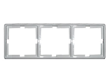 Trivietis rėmelis Vilma 012V, baltas