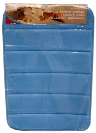 Vannas istabas paklājs Besk Memory Foam Blue, 600x400 mm