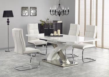Pusdienu galds Halmar Sandor 2 White, 1600 - 2200x900x750 mm