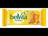 Sausainiai Belvita su riešutais ir medumi, 50 g