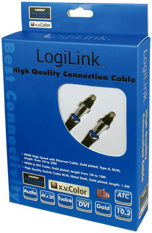 LogiLink Optical Cable Toslink to Toslink 1.5m