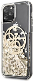 Guess Circle Liquid Glitter Back Case For Apple iPhone 11 Pro Gold
