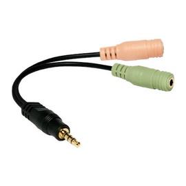 Провод Logilink 4-pin Stereo, черный/зеленый/oранжевый, 0.15 м