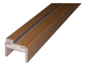 Durų stakta, reguliuojamoji, tamsaus ąžuolo, 75–100 x 980 x 2060 mm