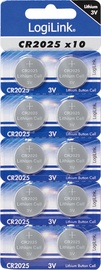 LogiLink Ultra Power CR2025 Lithium Button Cell 3V 10pcs