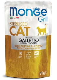 Monge Grill Pouch Chunkies In Jelly Rich In Cockerel Sterilised 85g