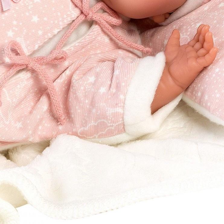 Llorens Doll Newborn Crying Lala In Pink Romper 42cm 74056