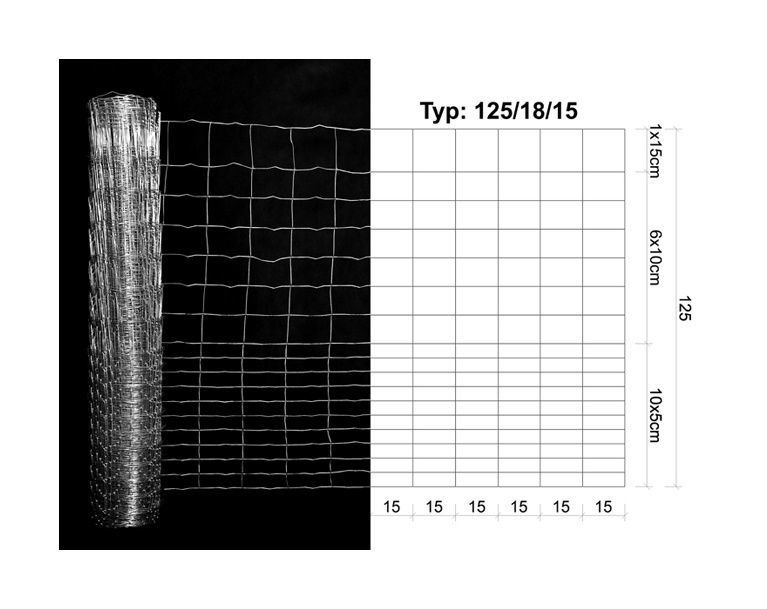 Aiavõrk 125/18/15 mm, light 25 m