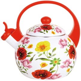 Mayer & Boch Whistling Kettle Red Flowers 2.2l