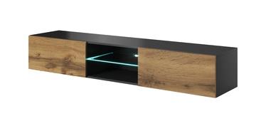 TV galds Halmar Livo RTV-180W Anthracite/Votan Oak, 1800x300x400 mm