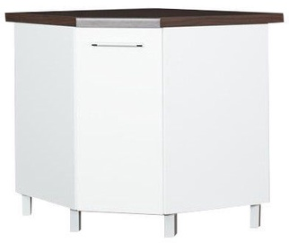 Кухонный шкаф Bodzio Loara Bottom Corner White, 760x520x860 мм