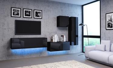 Vivaldi Meble Vivo 3 Furniture Set With LED Black/Black Gloss