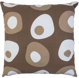 Home4you Cushion Summer 45x45cm Brown Dots
