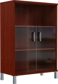 Skyland Born Shelf B 420.5 With Small Glass Doors Burgundy