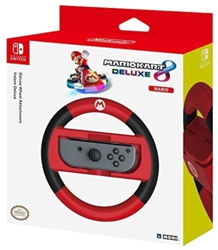 Игровой руль Hori Deluxe Wheel Attachment Mario Edition