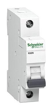 Automatinis jungiklis Schneider K60N, 1P, C, 25A, 6kA