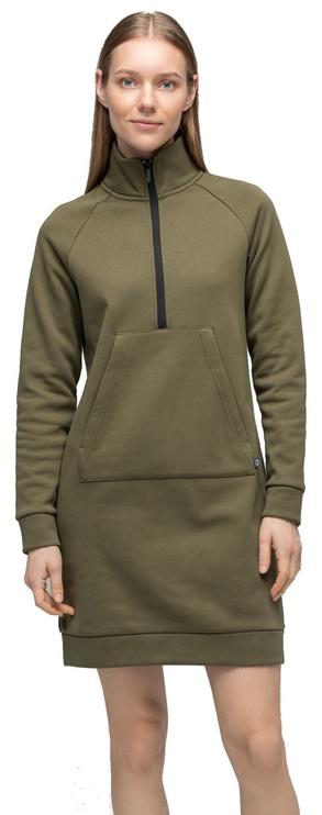 Audimas Soft Cotton Dress Olive Green M