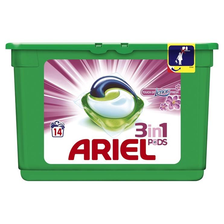 Капсулы для стирки Ariel Touch of Lenor Fresh 3 in 1, 14 шт.