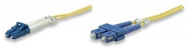 Intellinet LC-SC Fiber Optic Patch Cable OM-3 Yellow 1m
