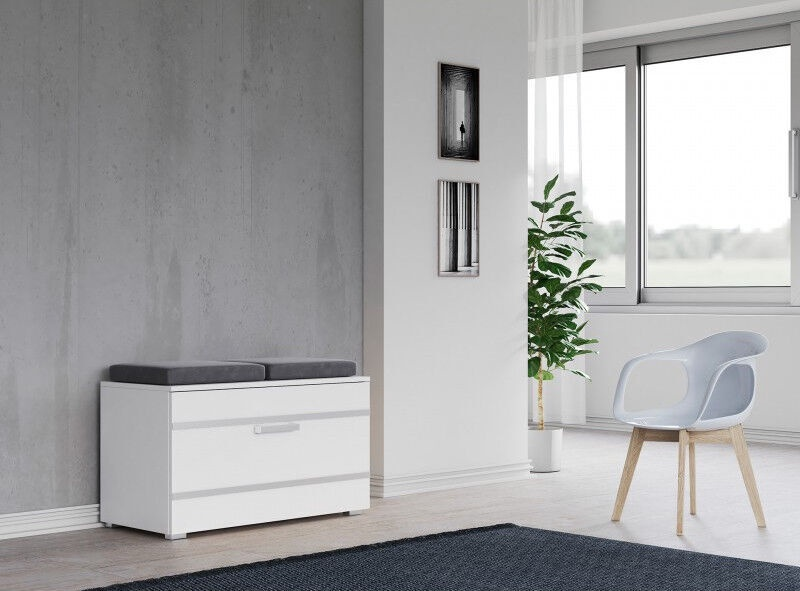 Apavu plaukts Top E Shop Opal, balta, 850x350x450 mm