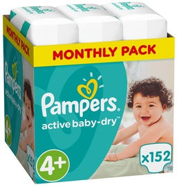 Pampers Active Baby-Dry S4 Plus 152