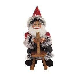 Kalėdinė muzikinė dekoracija Kalėdų senis, 33 cm.