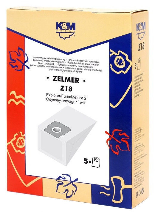 K&M Vacuum Cleaner Bags 5 Z18 For Zelmer