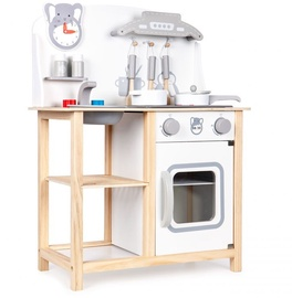 EcoToys Wooden Kitchen With Accessories White