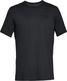 Under Armour Mens Sportstyle Left Chest SS Shirt 1326799-001 Black S