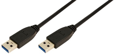LogiLink Cable USB to USB Black 3m