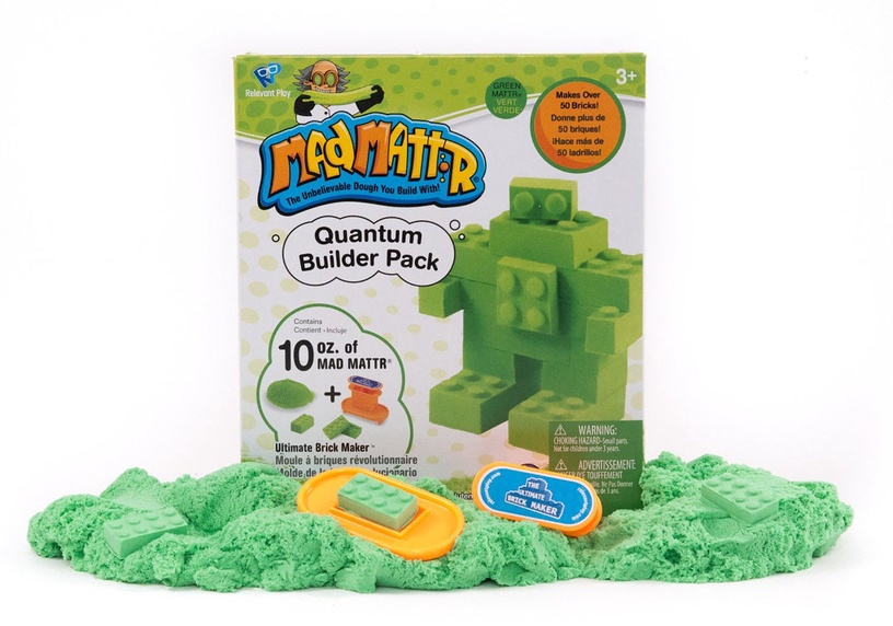 Kinetinis smėlis Relevant Play Mad Mattr Quantum Builders Pack Green, 283 g