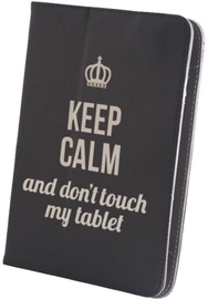 "GreenGo Universal Book Case With Stand 7-8"" Keep Calm Black"