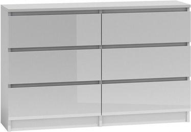 Top E Shop Malwa M6 Chest of 6 Drawers 120cm Gloss White