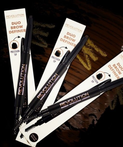 Makeup Revolution London Duo Brow Definer 0.15g Medium Brown