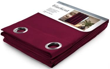 AmeliaHome Blackout Curtains Wine 140x245cm