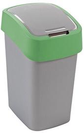 Мусорное ведро Curver Flip Bin Silver/Green, 50 л
